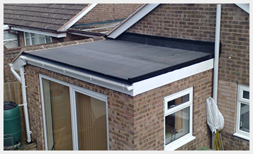 recent project fitting epdm rubber roofing in rochdale